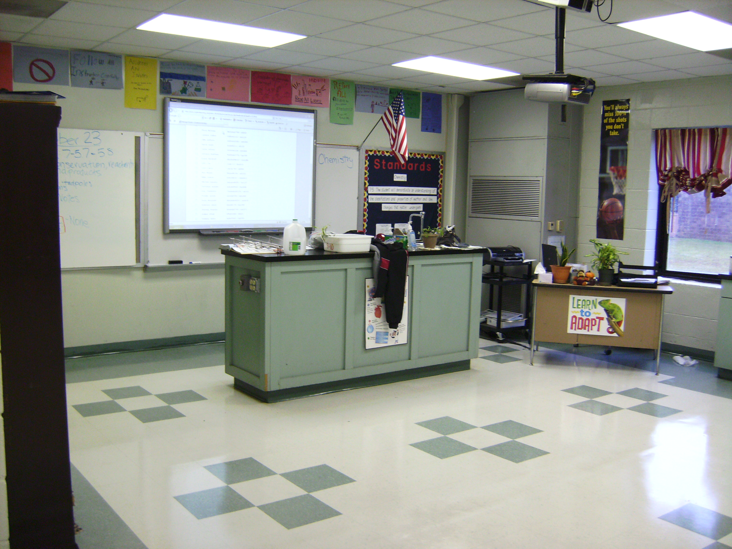 The front of myclassroom when you walk into the door.