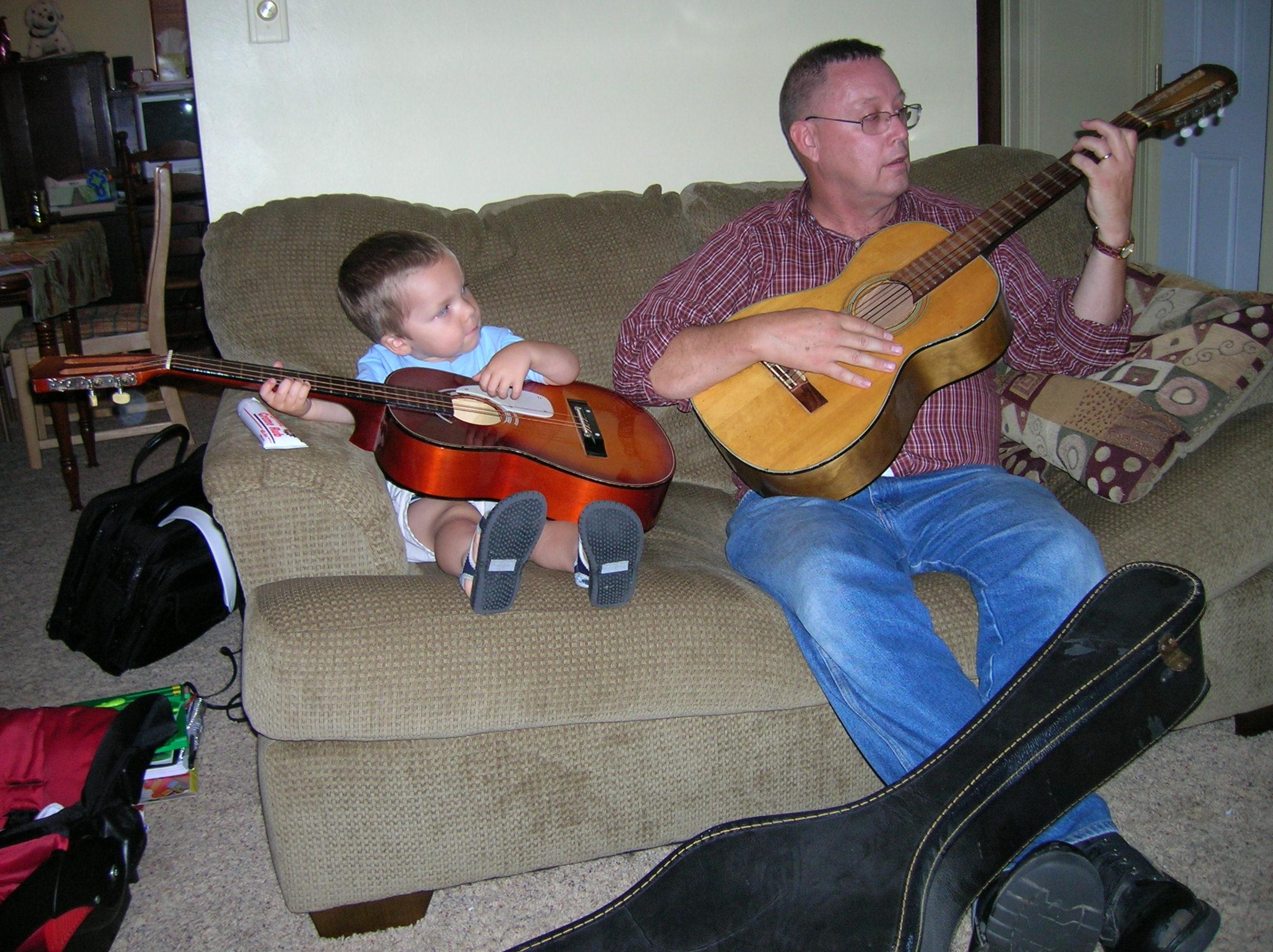 cade and grandpa guitars